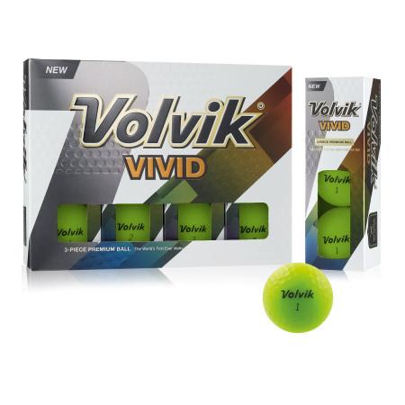 Volvik Vivid Golf Balls - Green